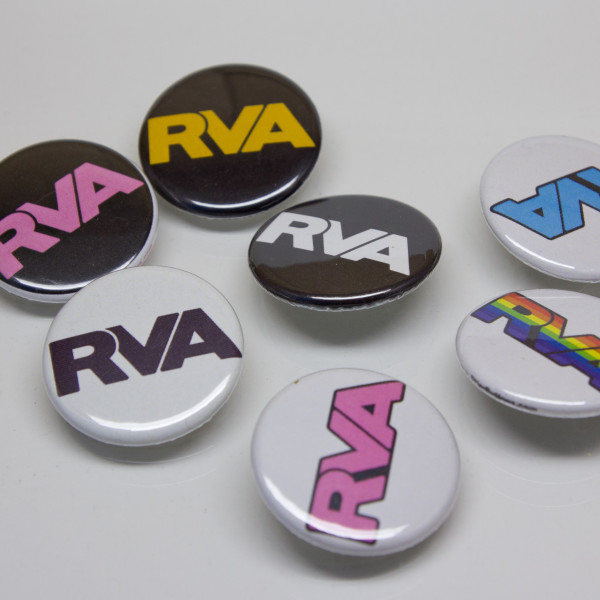 RVA Buttons with all colors available displayed